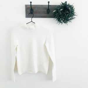 Cedric Charlier Cream Mock Neck Sweater S